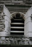 Window of Rochester Castle in England UK. Very old medieval Rochester Castle in England UK window taken from the side stock photo