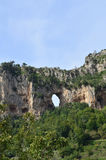 Window Rock Along the Amalfi Coast in Italy Stock Photography