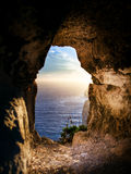 Window in the rock Royalty Free Stock Images