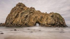 Window rock at Pfeiffer beach. In Big Sur. California Stock Photos