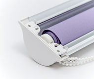Window roller blind. Royalty Free Stock Photo