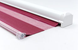 Window roller blind. Stock Photos