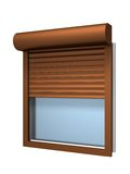 Window with roller shutter. Three dimensional render Stock Images
