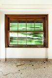 Window with roller shutter broken Royalty Free Stock Images