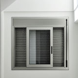 Window with roller shutter stock photos