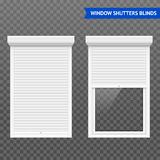 Window Roller Shutters Set Royalty Free Stock Photography