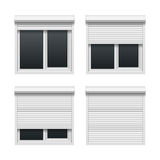 Window with roller shutters Stock Image