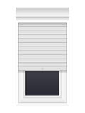 Window with rolling shutters Stock Photography
