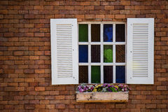 Window. Romantic window on the wall Stock Photography
