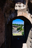 Window of Rome Colosseum Stock Photography