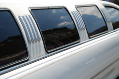 Window and roof of the limousine Stock Images