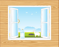 Window in room Royalty Free Stock Images