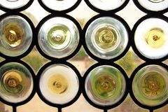 Window with round glazed elements and lead Royalty Free Stock Photo