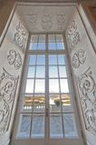 Window in the royal palace of Venaria Royalty Free Stock Photos