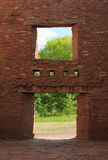 Window in a rubble wall. Window of Quarai Ruins in Salinas Pueblo National Monument Royalty Free Stock Photography