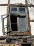Window of ruined cottage Stock Photo