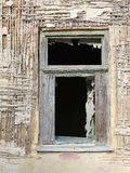 Window of a ruined house. A window of a ruined old house royalty free stock photo