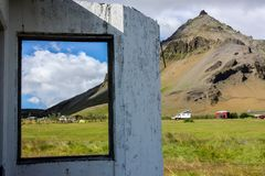 House in Iceland stock photo
