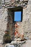 Window in the ruins Stock Photo