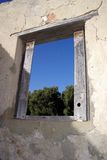 Window in Ruins stock image