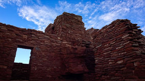 Window in Ruins at Wupatki National Monument Royalty Free Stock Photo