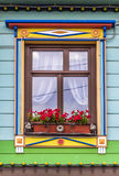 A window of the rural house Royalty Free Stock Image