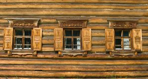 Window in russian tradition stock photos