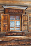 Window in russian tradition stock photography