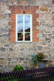 Window rustic stone wall Stock Photos