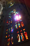 Window of Sagrada Familia Stock Photo