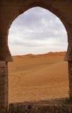 Window in the Sahara desert Stock Photography