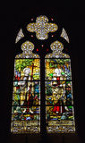 Window in Saint Barbara Church in Brussels Stock Photography