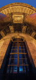 Window of Saint Isaac's Cathedral. In Saint-Petersburg at night Stock Photo