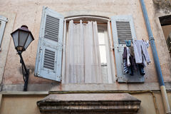 Window in Saint Tropez Royalty Free Stock Photos