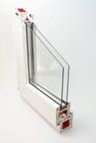 Window sash. Pvc profile window sash with double glazing Stock Images
