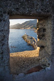The window on the sea Stock Photography