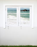 Window with sea view Royalty Free Stock Photography