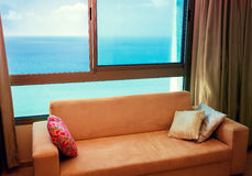 Window with sea view Royalty Free Stock Image