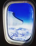 Window seat view over the states royalty free stock images