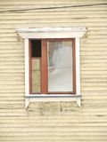 Window. Separate window in home wood frame stock images