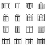 Window set icons. For your artwork , presentation or architecture design Stock Photo