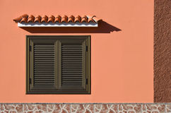 Window with shelter Royalty Free Stock Image
