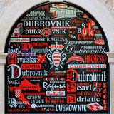 Window celebrating Dubrovnik Royalty Free Stock Images