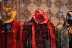 Window Shopping. Women's clothing royalty free stock image