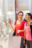 Window shopping Royalty Free Stock Images