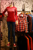 Window Shopping for Modern Casual Clothing Royalty Free Stock Photography