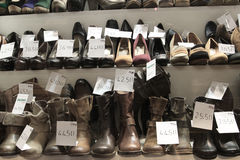 Window shopping for shoes Stock Image