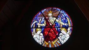 Window shot in a funeral chapel. Nice window shot in a funeral chapel royalty free stock images