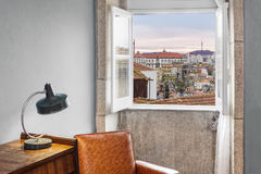 Window showing outside view Stock Image