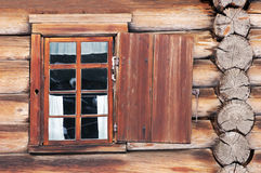 Window with shutter. Of old wooden house royalty free stock photos
